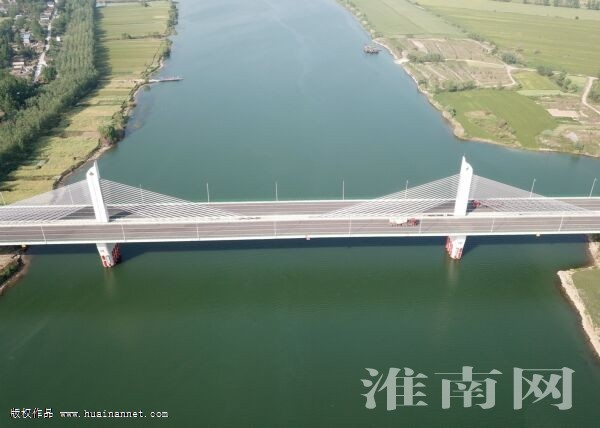 淮上淮河大桥通车