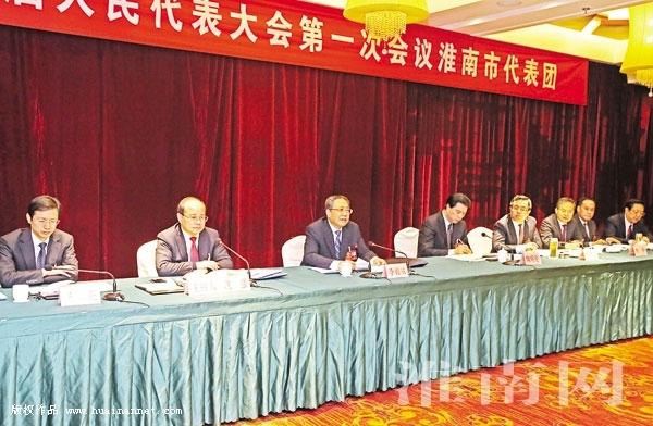 省委书记李锦斌参加省人代会淮南代表团审议